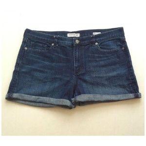 Banana Republic Roll-Up Dark Wash Jean Shorts